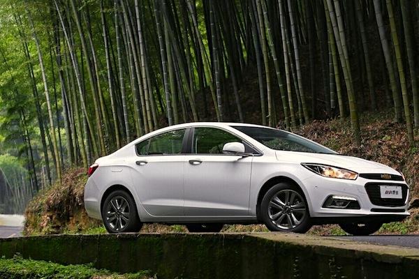 Chevrolet Cruze China December 2014. Picture courtesy of autokon.com