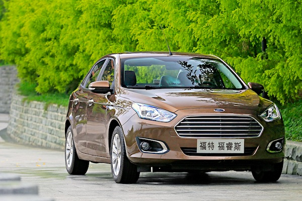 Ford Escort China October 2016. Picture courtesy of auto.163.com