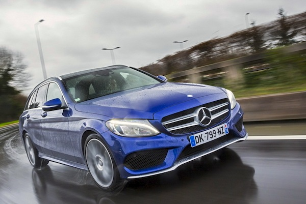 Mercedes C-Class Portugal January 2015. Picture courtesy of largus,fr