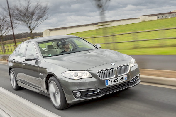 BMW 5 Series Finland January 2015. Picture courtesy largus.fr