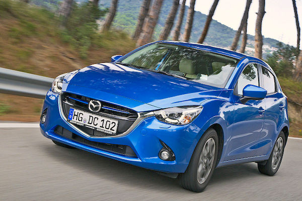 Mazda2 Switzerland January 2015. Picture courtesy autobild.de