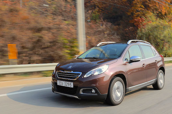 Peugeot 2008 South Korea January 2015. Picture courtesy motorian.kr