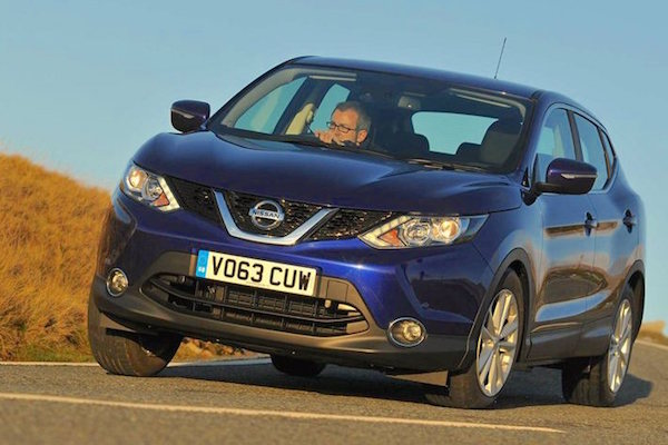 Nissan Qashqai Europe September 2015. Picture courtesy whatcar.co.uk