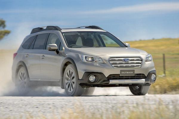 Subaru Outback Australia March 2016