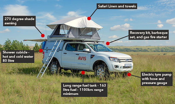 Ford Ranger Botswana 2014. Picture courtesy avisvanrental.co.za