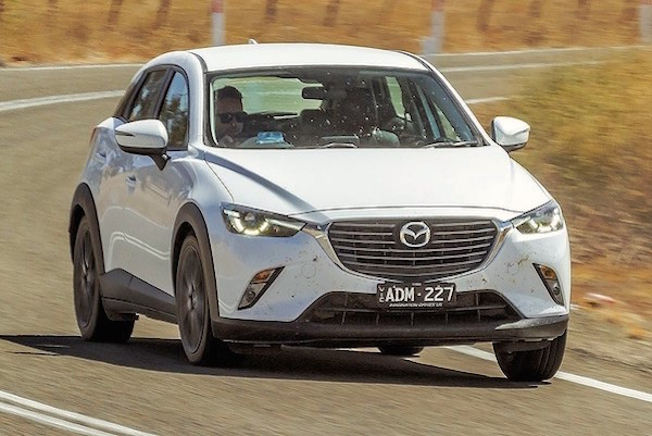 Mazda CX-3 Norway February 2016. Picture courtesy drive.com.au