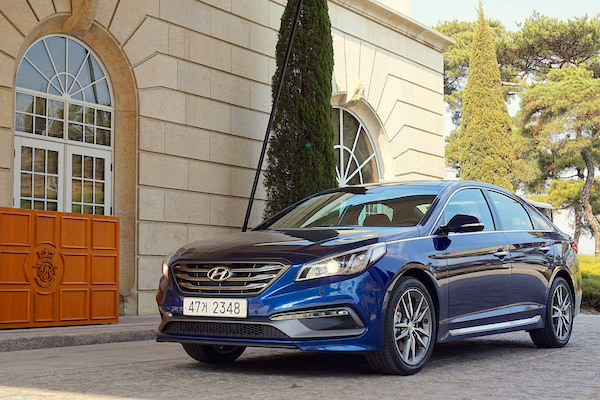Hyundai Sonata South Korea May 2015. Picture courtesy motorian.kr