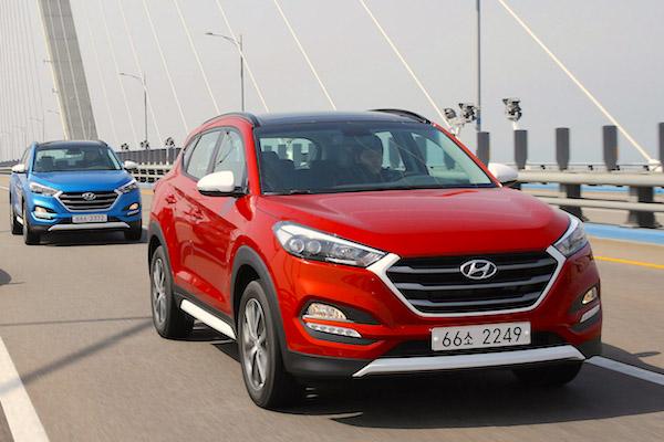 Hyundai Tucson South Korea May 2015. Picture courtesy motorian.kr