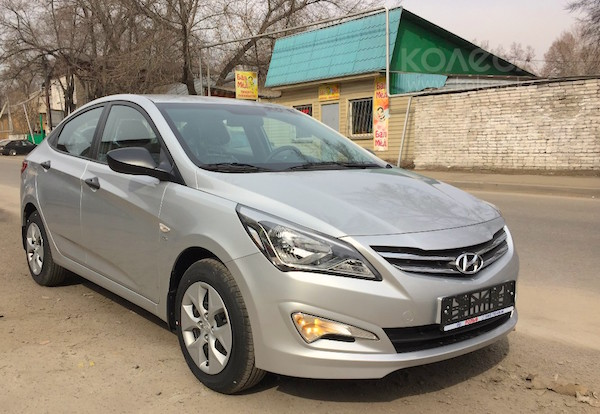 Hyundai Accent Kazakhstan September 2015. Picture courtesy kolesa.kz