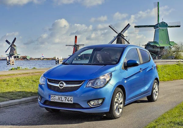 Opel Karl Netherlands July 2016. Picture courtesy largus.fr