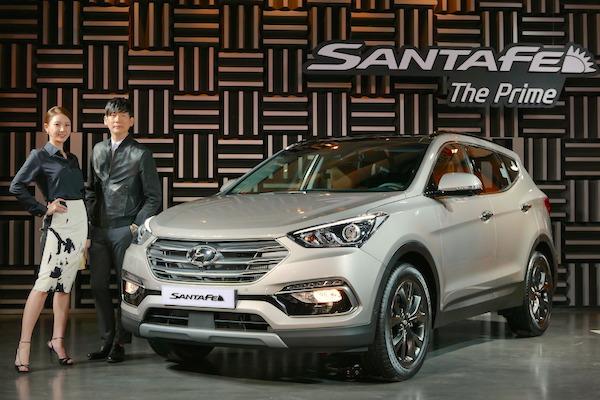 Hyundai Santa Fe Souyth Korea July 2015. Picture courtesy tistory.com