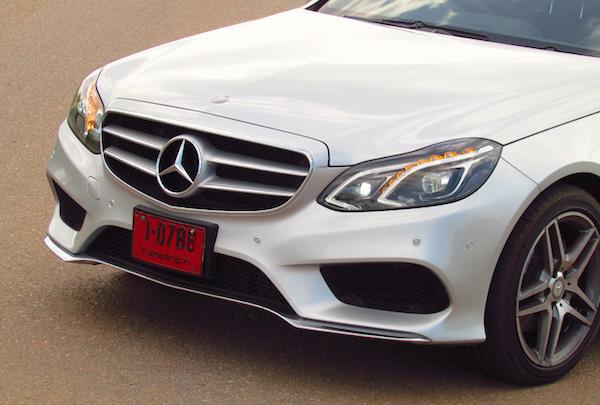 Mercedes E Class Thailand June 2015. Picture courtesy headlightmag.com