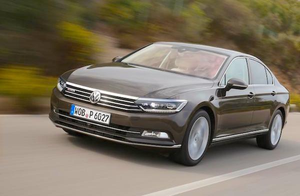 VW Passat Europe July 2015. Picture courtesy caranddriver.com