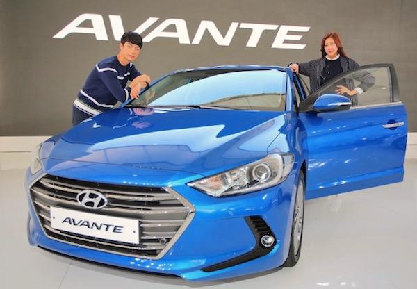 Hyundai Avante South Korea August 2015. Picture courtesy leaderyou.co.kr