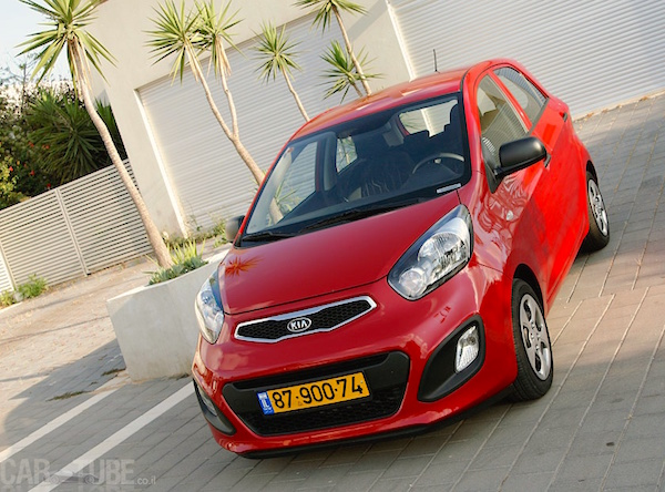 Kia Picanto Israel August 2015. Picture courtesy cartube.co.il