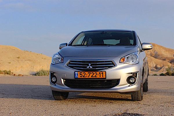 Mitsubishi Attrage Israel August 2015. Picture courtesy auto.co.il
