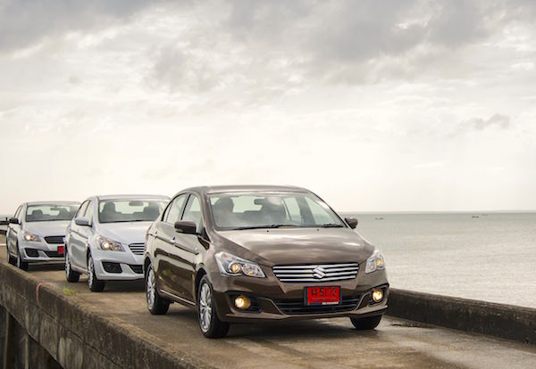 Suzuki Ciaz Thailand August 2015. Picture courtesy grandprix.co.th