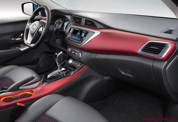 Nissan Lannia interior China October 2015. Picture courtesy chinaautoweb.com