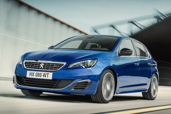 Peugeot 308 Europe October 2015