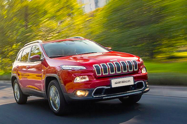 Jeep Cherokee China November 2015