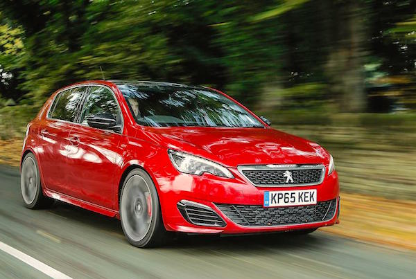 Peugeot 308 Denmark July 2016. Picture courtesy whatcar.com