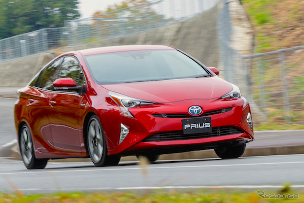 Toyota Prius Japan December 2015. Picture courtesy response.jp