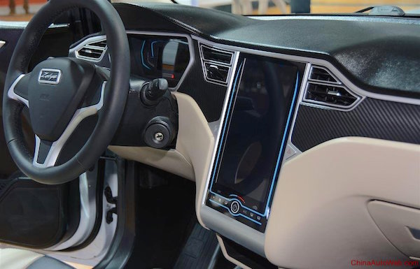 Zotye E30 interior. Picture courtesy chinaautoweb.com