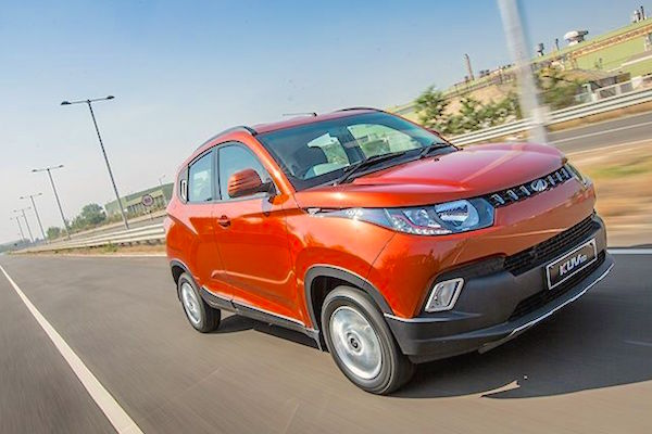Mahindra KUV100 India January 2016. Picture courtesy zigwheels.com