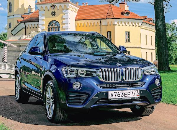 BMW X4 Russia January 2016. Picture courtesy zr.ru