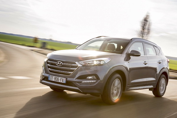 Hyundai Tucson Europe January 2016. Picture courtesy largus.fr