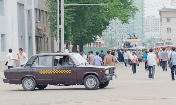 Lada Taxi Pyongyang