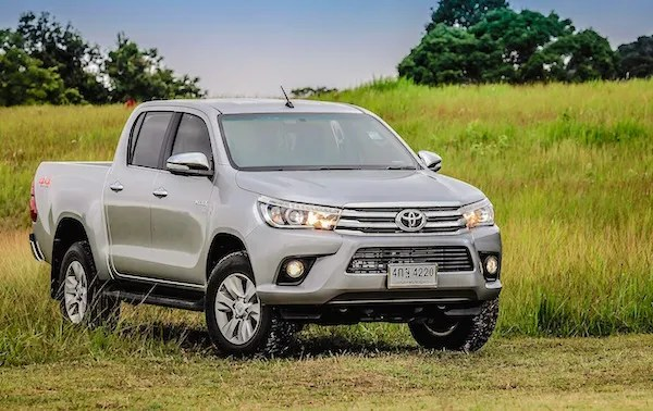 The Toyota Hilux Thailand February 2016. Picture courtesy gmcarmagazine.com