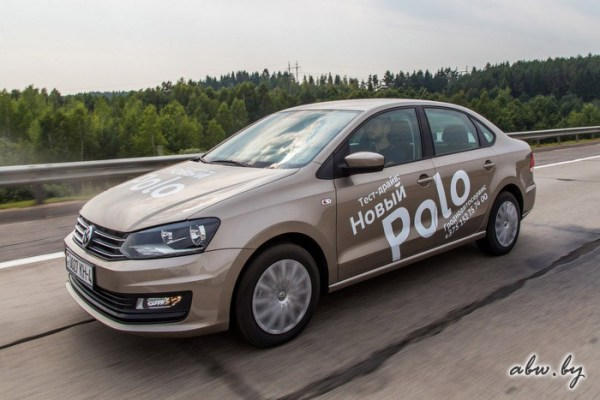 VW Polo Russia August 2016. Picture courtesy abw.by