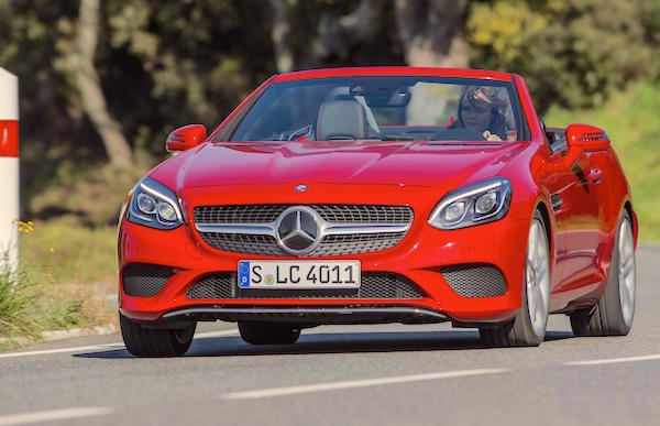 Mercedes SLC Europe February 2016. Picture courtesy topgear.com