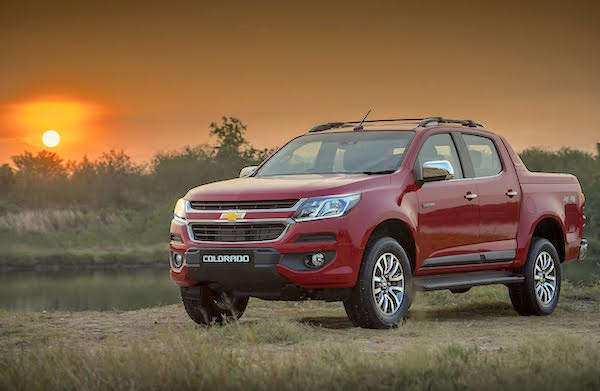 Chevrolet Colorado Thailand April 2016. Picture courtesy grandprix.co.th