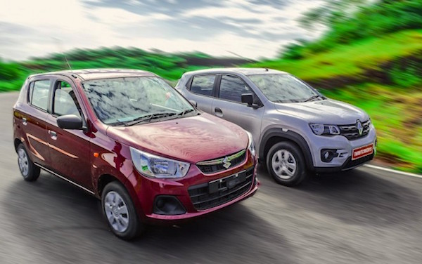 Renault-Kwid-Vs-Alto India April 2016. Picture courtesy gaadi