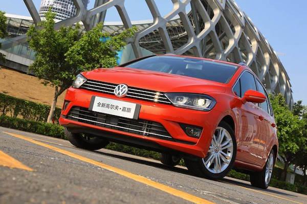 VW Golf Sportsvan China April 2016