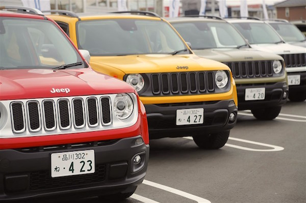 Jeep Renegade Japan June 2016. Picture courtesy carview.co.jp