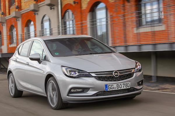 Opel Astra Finland July 2016