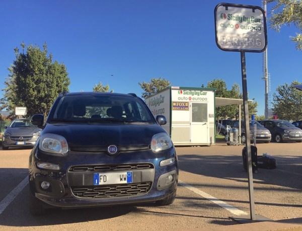 Panda Blu Sicily by Car