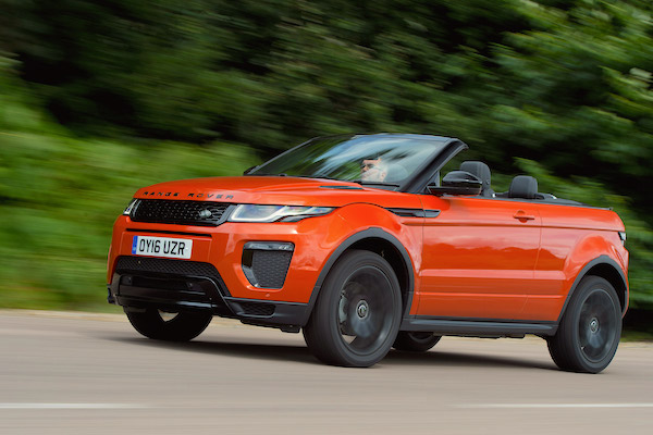 Range Rover Evoque UK July 2016