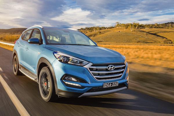 Hyundai Tucson Australia October 2016