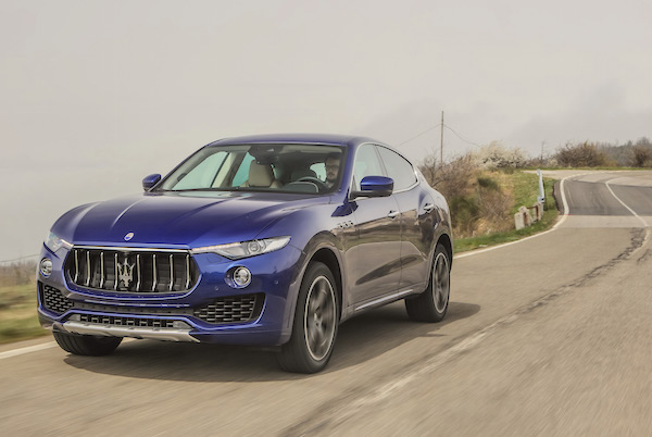 Maserati Levante Europe July 2016. Picture courtesy autoexpress.co.uk