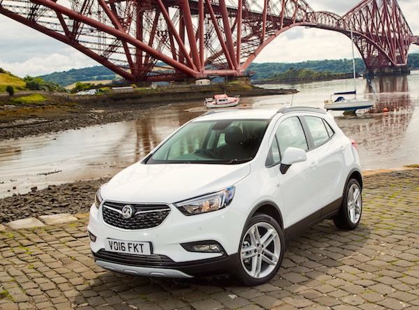 Vauxhall Mokka X UK October 2016