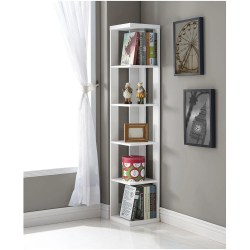 Small Crop Of White Corner Shelf