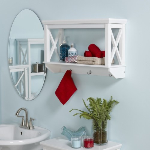 Medium Of Bathroom Wall Shelving