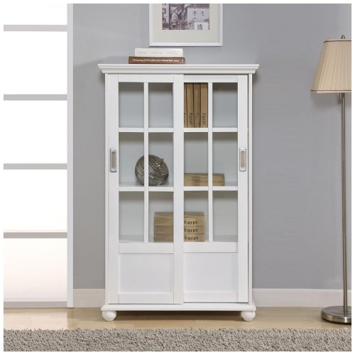 Medium Of Glass Door Bookcase