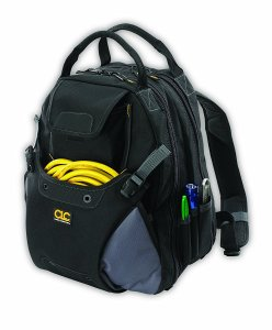 Custom Leathercraft 1134 Tool Backpack, 48-Pocket Electrician