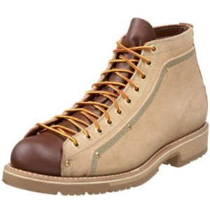 Thorogood Men's American Heritage Roofer Boot tan roughout/brown