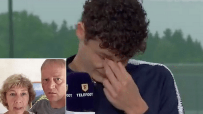 Benjamin Pavard In Tears On French TV After His Parents Send Him     Benjamin Pavard In Tears On French TV After His Parents Send Him Message